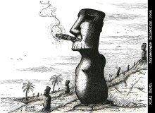 2008 moai North changed poster 13 x19